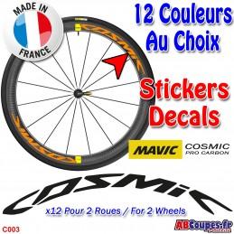 Autocollants roue MAVIC Cosmic Pro Carbon