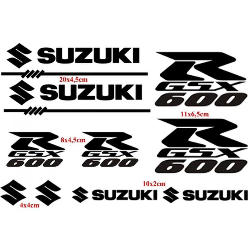 10 Stickers pour Suzuki GSXR-600