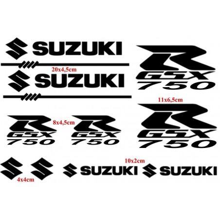 10 Stickers pour Suzuki GSXR-750