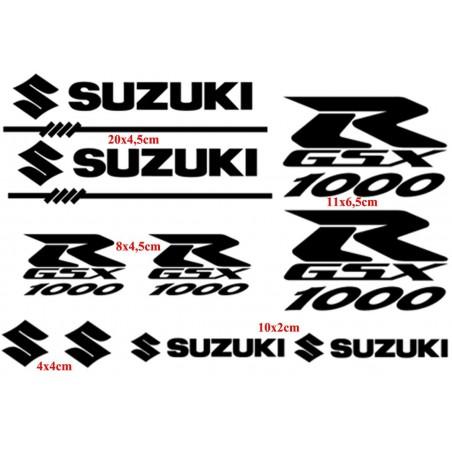 10 Stickers pour Suzuki GSXR-1000