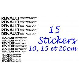 15 Stickers Renault Sport