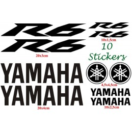 10 Stickers pour Yamaha YZF R6