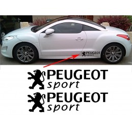 2 Stickers Peugeot Sport