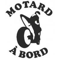 Stickers Motard à Bord