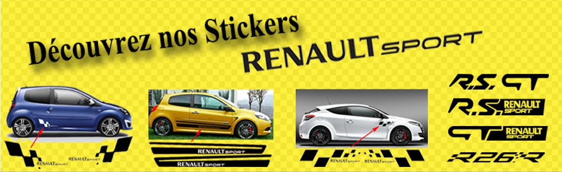 Tous Nos Stickers Renault Sport